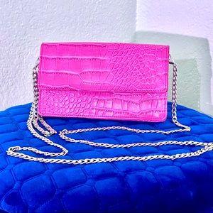 Snob Essentials Hot pink crossbody wristlet purse